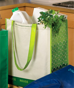 Gemline 1768-Laminated 100% Recycled Shopper