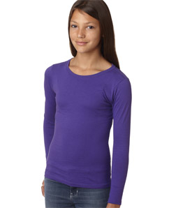 Next Level 3711-Girls Princess Long-Sleeve Cotton Tee