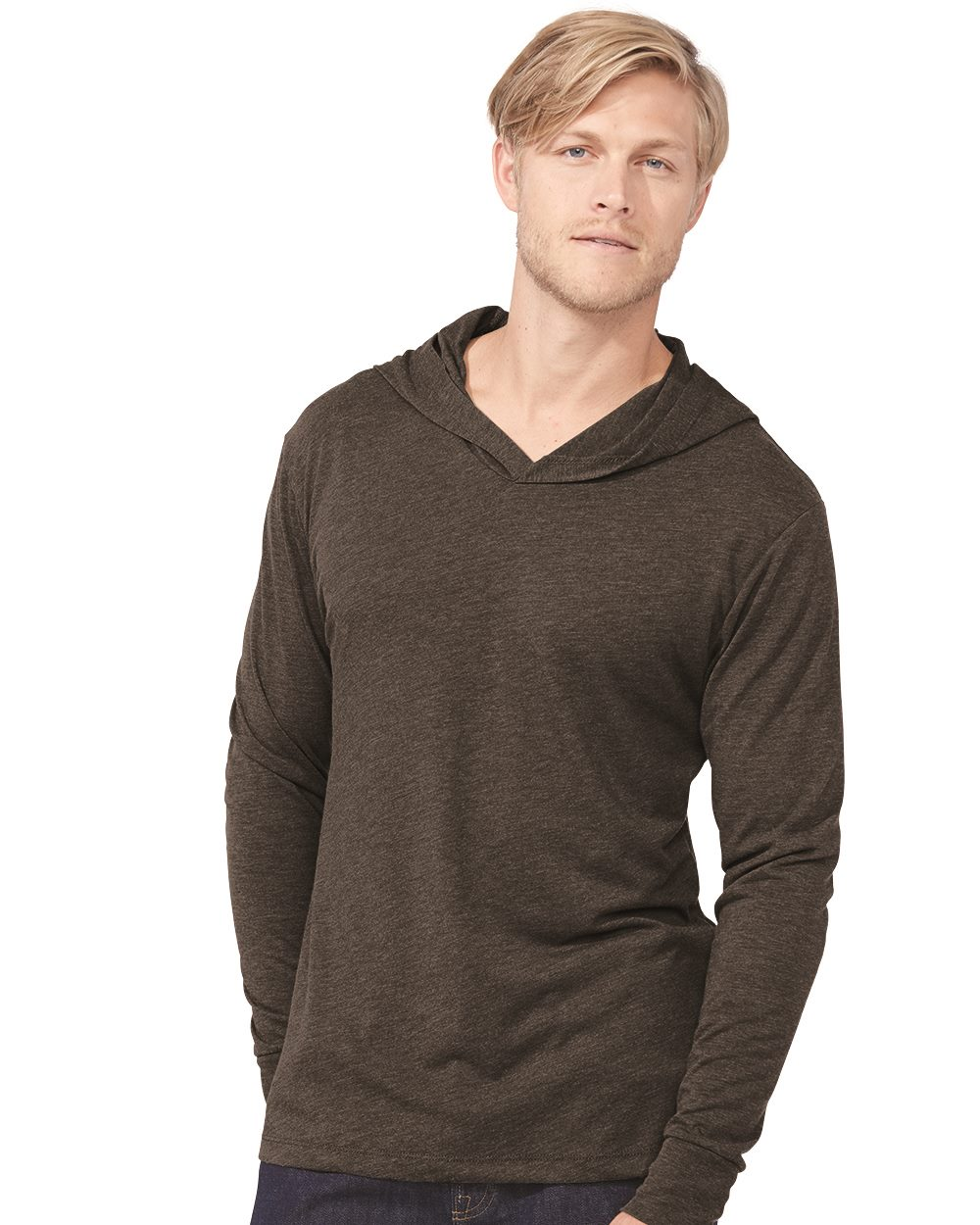 Next Level 6021-Mens Tri-Blend Long-Sleeve Hoodie