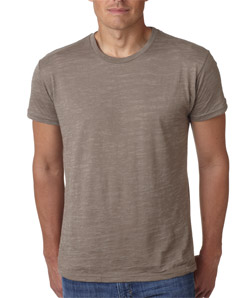 Next Level 6110-Mens Poly/Cotton Burnout Crew
