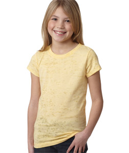 Next Level 6510-Youth Princess Poly/Cotton Burnout Tee