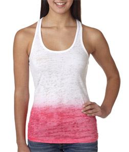 Next Level 6532-Ladies Poly/Cotton Ombre Burnout Razor Tank