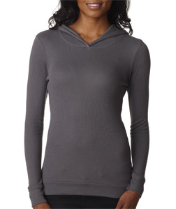 Next Level 8021-Ladies Soft Thermal Poly/Cotton Hoodie