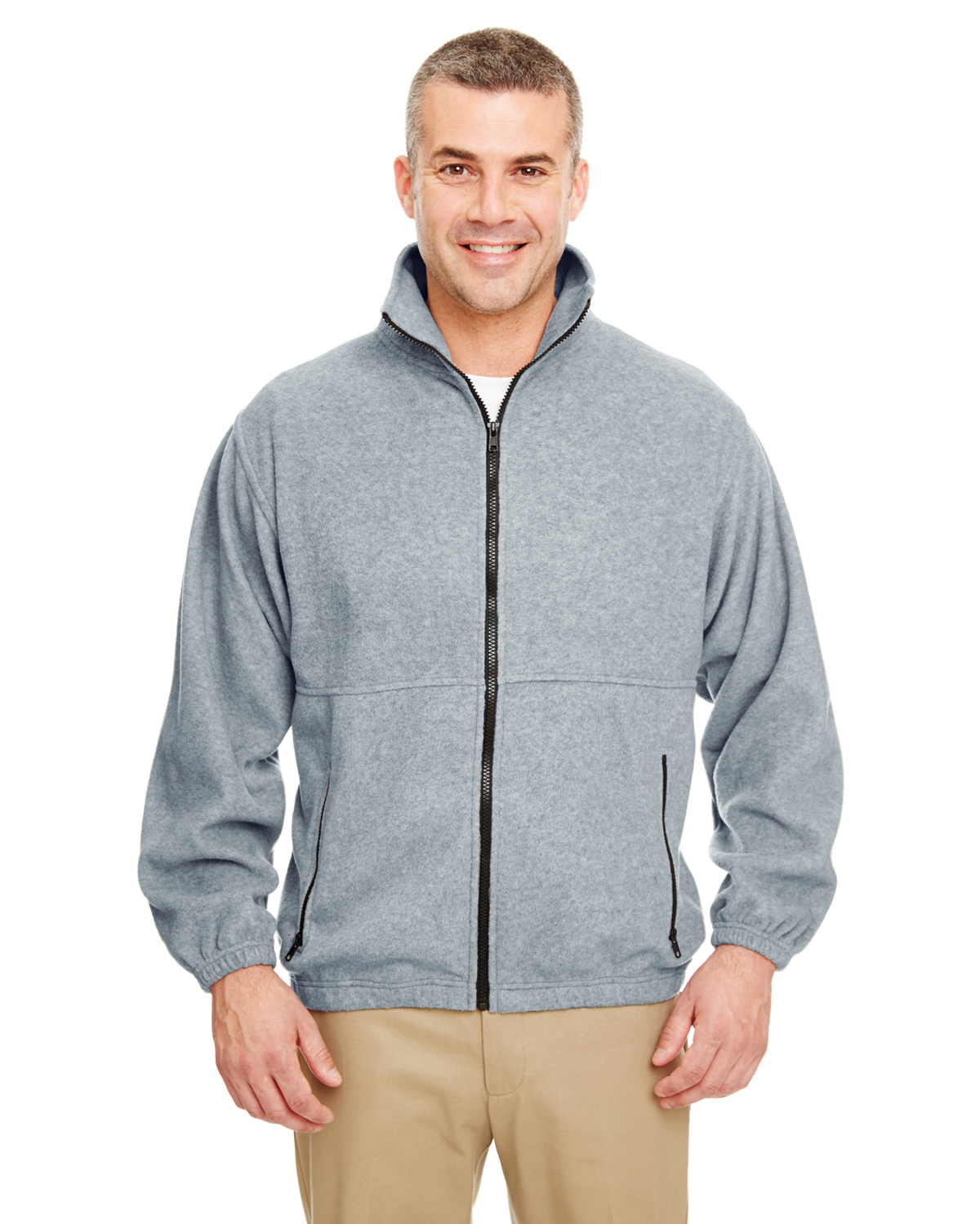 UltraClub 8485-Adult Iceberg Fleece Full-Zip Jacket