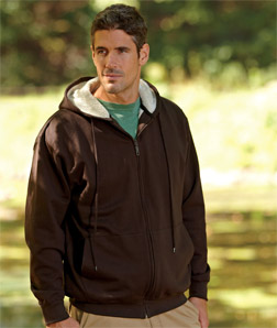 UltraClub 8450-Adult Sherpa-Lined Full-Zip Fleece with ...