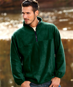 UltraClub 8480-Adult UltraClub Iceberg Fleece 1/4-Zip ...