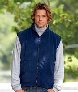 UltraClub 8486-Adult Iceberg Fleece Full-Zip Vest