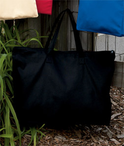 UltraClub 8863-Zippered Tote with Gusset