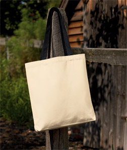 UltraClub 8868-Tote with Gusset and Contrasting Handles
