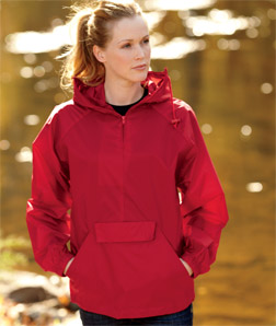 UltraClub 8929-Adult Hooded Zip-Front Pack-Away Jacket