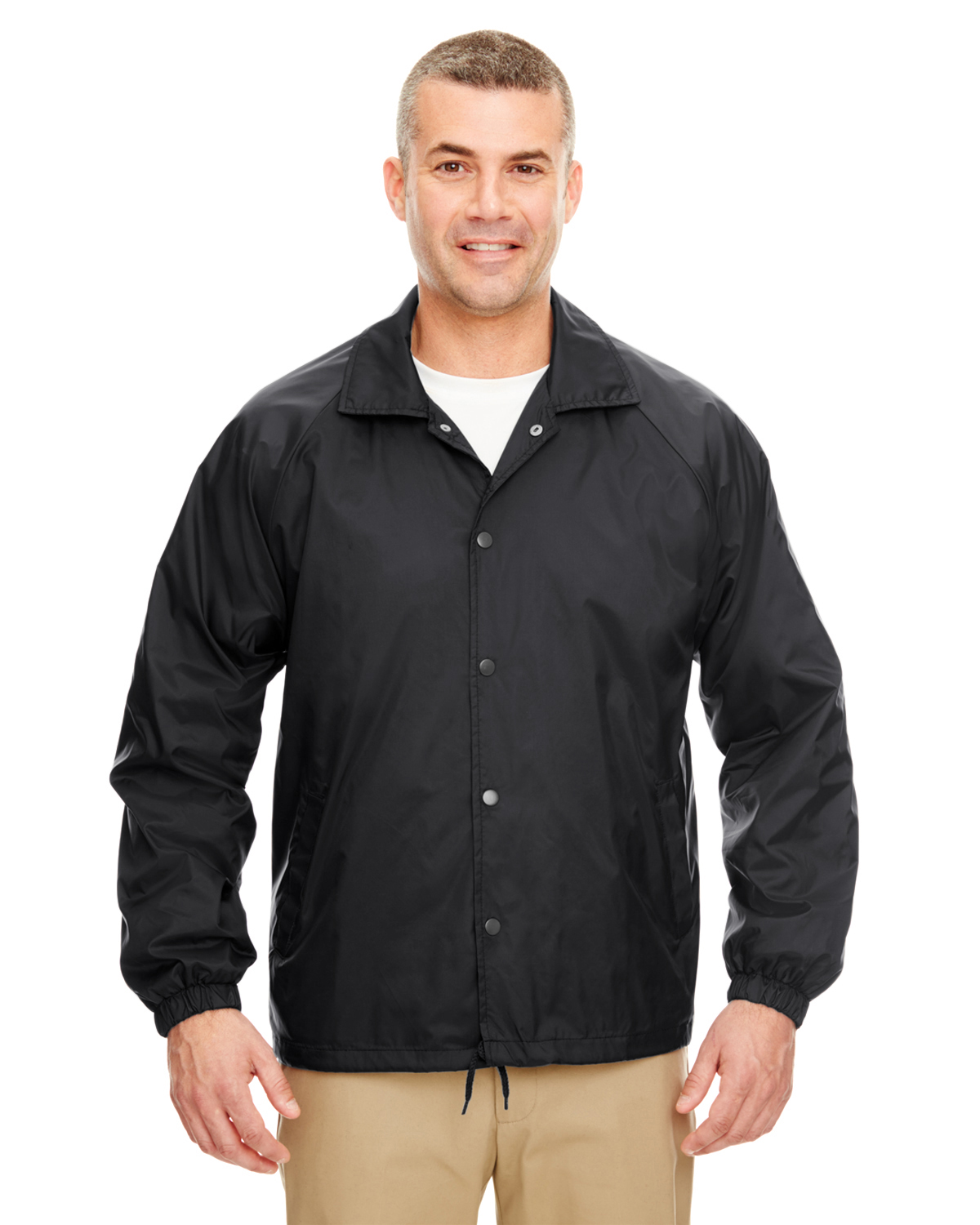 UltraClub 8944-Adult Nylon Coaches Jacket