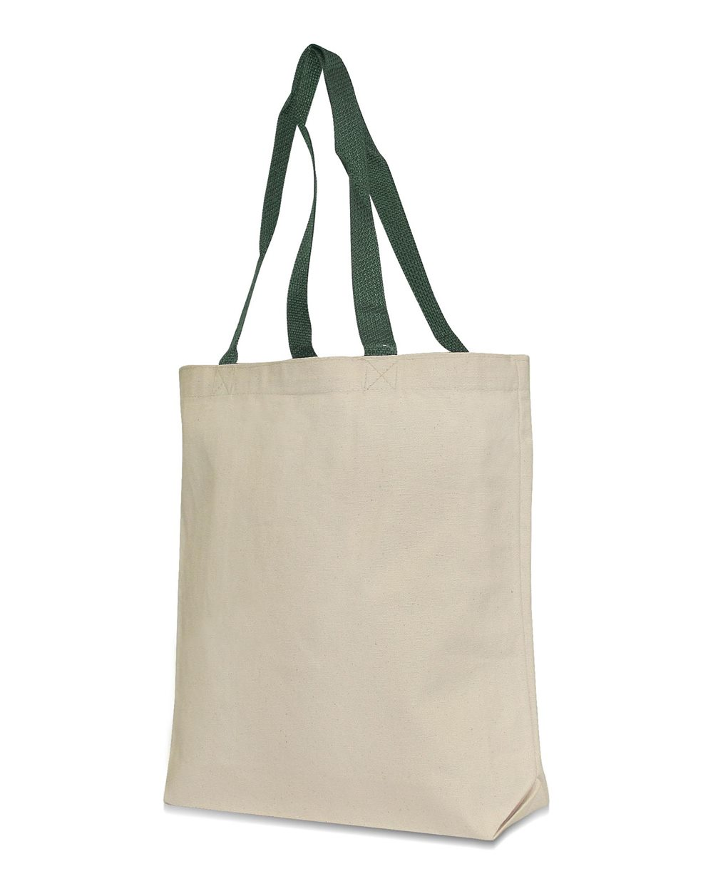 UltraClub 9868-Recycled Cotton Canvas Tote With Contrasting ...