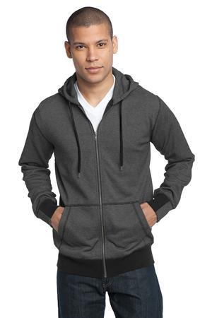District Made™ DM390 Mens Mini Stripe Full-Zip ...