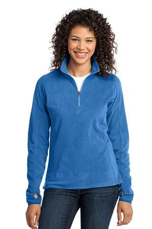 Port Authority® L224 Ladies Microfleece 1/2-Zip ...