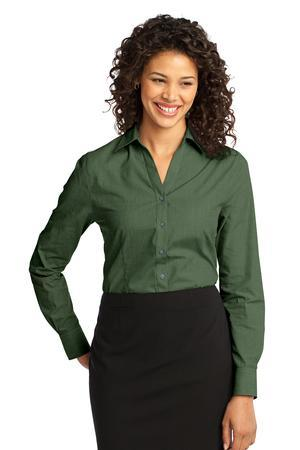 Port Authority® L640 Ladies Crosshatch Easy Care ...