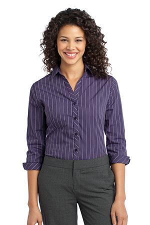 Port Authority® L643 Ladies Vertical Stripe 3/4-...