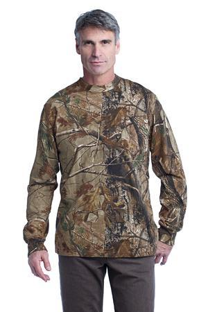 Russell Outdoors™ S020R Realtree Long Sleeve Explorer 100% Cotton T-Shirt with Pocket