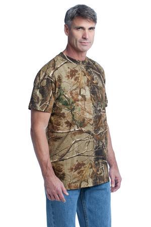 Russell Outdoors™ S021R Realtree Explorer 100% Cotton T-Shirt with Pocket