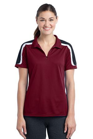 Sport-Tek® LST658 Ladies Tricolor Shoulder Micropique Sport-Wick® Polo