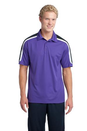 Sport-Tek® ST658 Tricolor Shoulder Micropique Sport-Wick® Polo