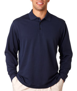 ADIDAS A86 - ClimaLite Pique Long-Sleeve Polo