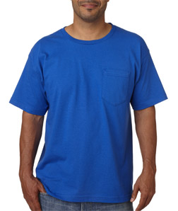 Bayside 5070 - Adult Short-Sleeve Cotton Tee with Pocket