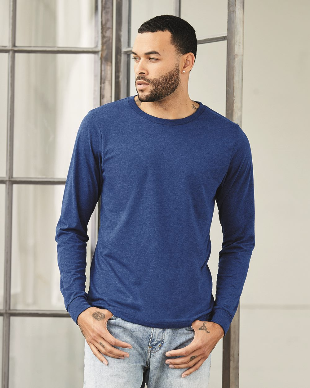 Bella + Canvas 3501 - Men's Jersey Long-Sleeve Tee