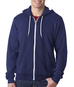 Bella 3739 - Unisex Poly-Cotton Fleece Full-Zip Hoodie