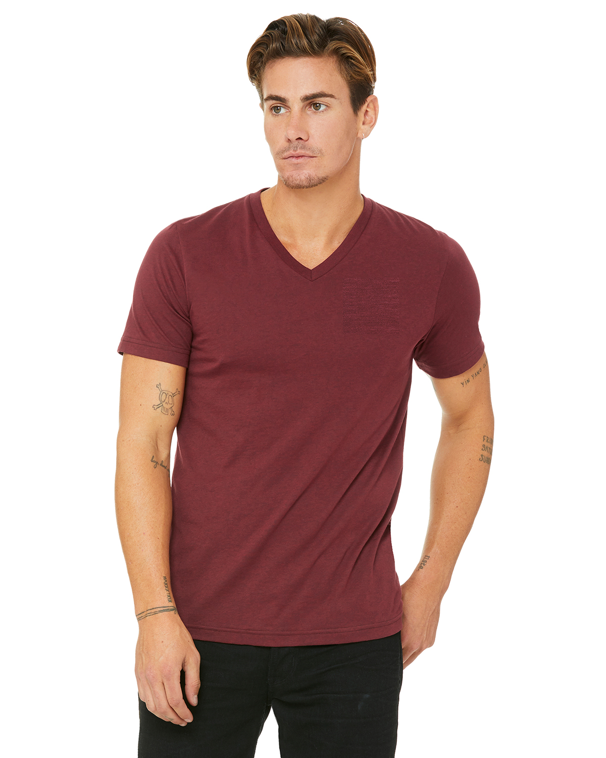Bella C3415 - Unisex TriBlend Short-Sleeve Deep V-Neck Tee