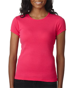 Canvas 1001 - Ladies' Baby Rib Short-Sleeve Crew Neck ...