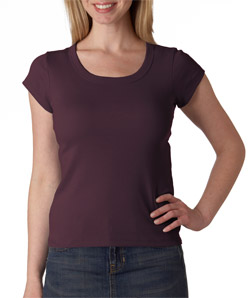 Canvas 1003 - Ladies' Baby Rib Short-Sleeve Scoop-Neck ...