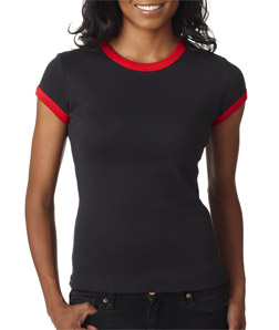 Canvas 1007 - Ladies' Baby Rib Short-Sleeve Ringer Tee