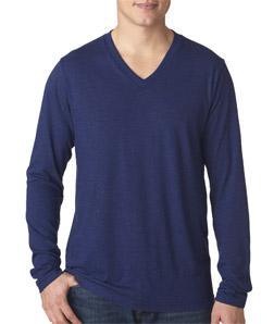 Canvas 3425 -  Men's Tri-Blend Long-Sleeve V-Neck Tee