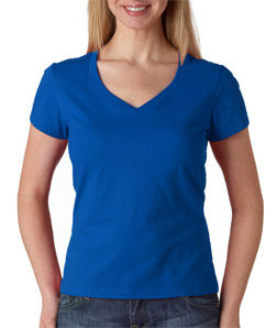 Canvas 6005 - Ladies' Jersey Short-Sleeve V-Neck Tee