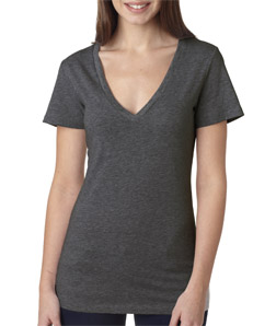 Canvas 6035 - Ladies' Jersey Short-Sleeve Deep V-Neck ...