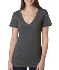 Canvas 6035 - Ladies' Jersey Short-Sleeve Deep V-Neck Tee