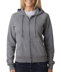 Canvas 7007 - Ladies' Fleece Full-Zip Raglan Hooded ...