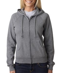 Canvas 7007 - Ladies' Fleece Full-Zip Raglan Hooded Sweatshirt