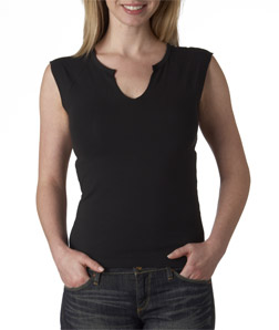 Canvas 820 - Ladies' Cotton/Spandex Slit-V Raglan Tee