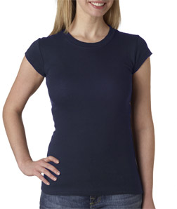 Canvas 8701 - Ladies' Sheer Mini-Rib Short-Sleeve Tee