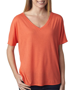 Canvas 8815 - Ladies' Flowy Simple V-Neck Tee