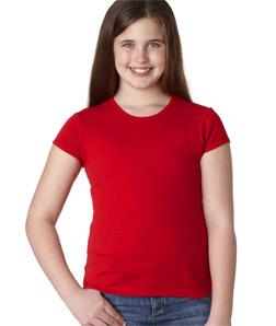 Canvas 9001 女孩 短袖罗纹水手领T恤