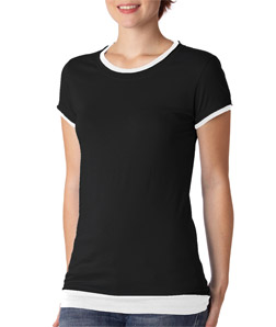 Canvas B8102 - Ladies' Sheer Jersey Short-Sleeve 2-in-...