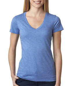 Canvas B8435 - Ladies' TriBlend Short-Sleeve Deep V-...