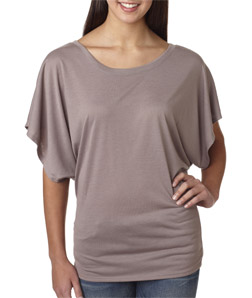 Canvas B8821 - Flowy Draped-Sleeve Dolman Tee