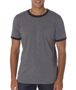 Canvas C3055 男士平纹布 撞色滚边纯色T恤