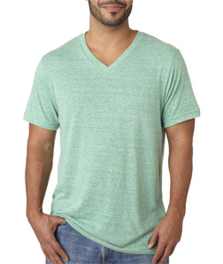 Canvas C3415 - Men's TriBlend Short-Sleeve Deep V-Neck ...