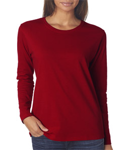 Gildan 5400L - Missy-Fit Heavy Cotton Long Sleeve T-...