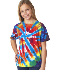 Gildan 60B - Tie-Dye Youth Rainbow Cut Spiral Tee