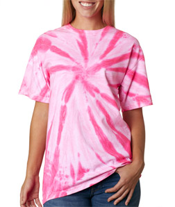 Gildan 68 - Tie-Dye Adult Neon One-Color Pinwheel Tee